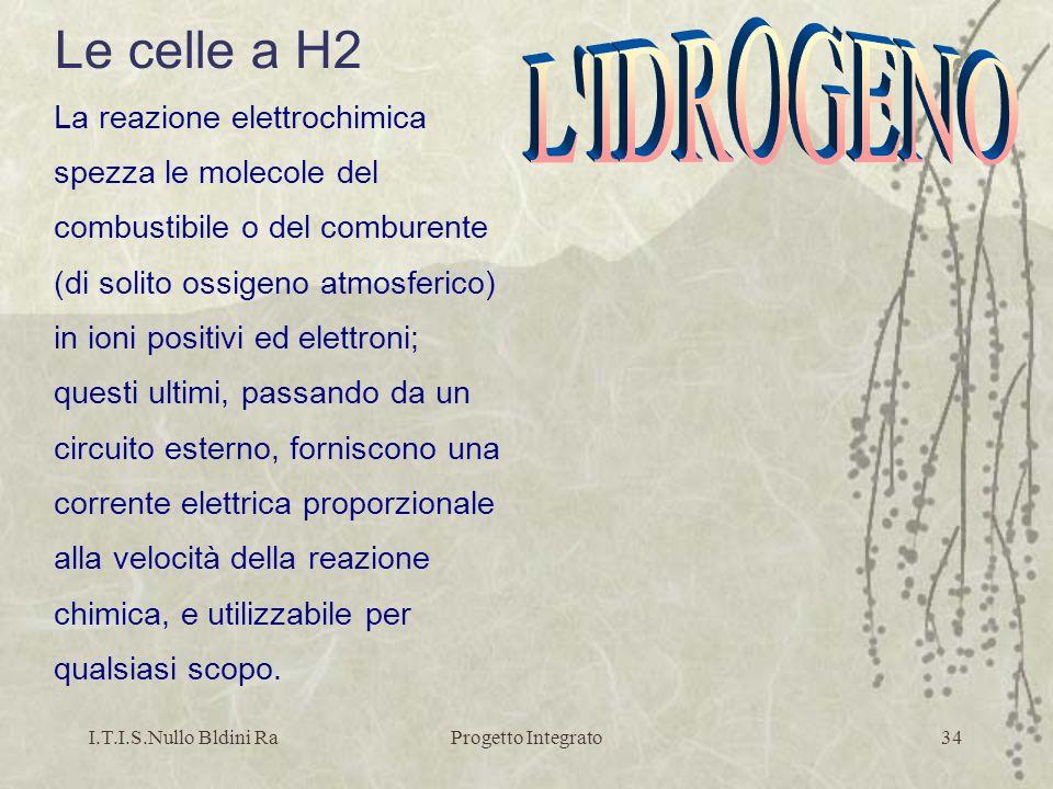 Le celle a H2 L IDROGENO La reazione elettrochimica
