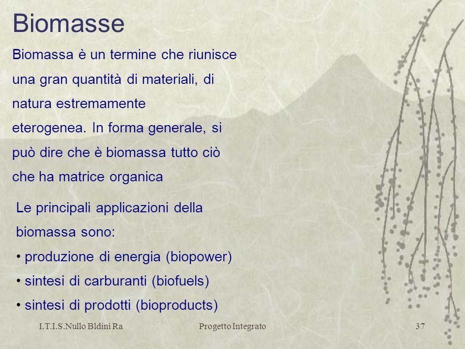 Biomasse Biomassa è un termine che riunisce