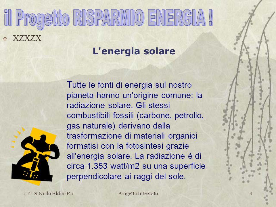 il Progetto RISPARMIO ENERGIA !