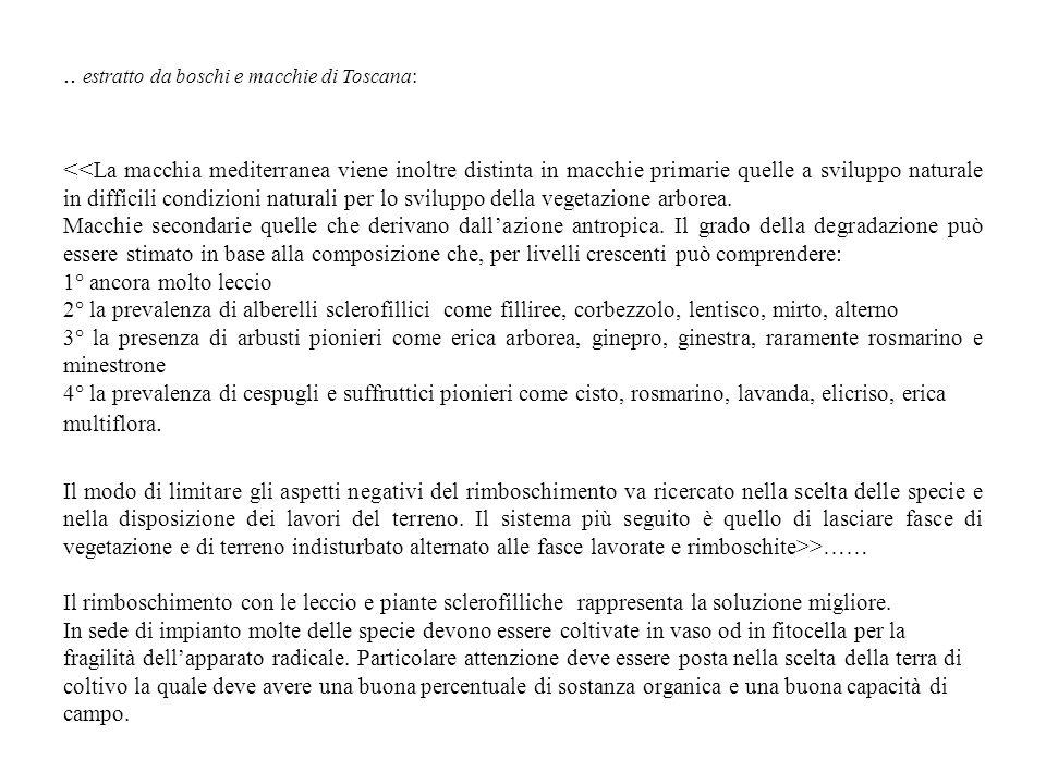 .. estratto da boschi e macchie di Toscana: