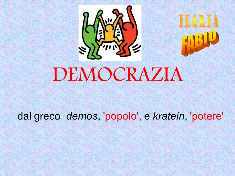 dal greco demos, popolo , e kratein, potere