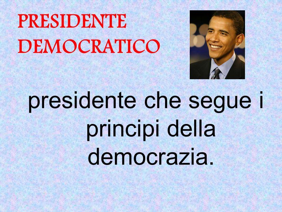 PRESIDENTE DEMOCRATICO