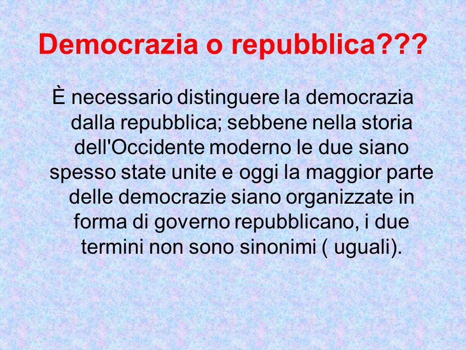 Democrazia o repubblica