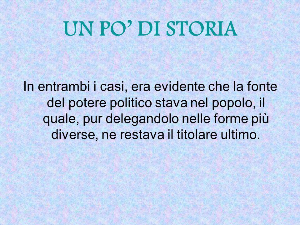 UN PO' DI STORIA