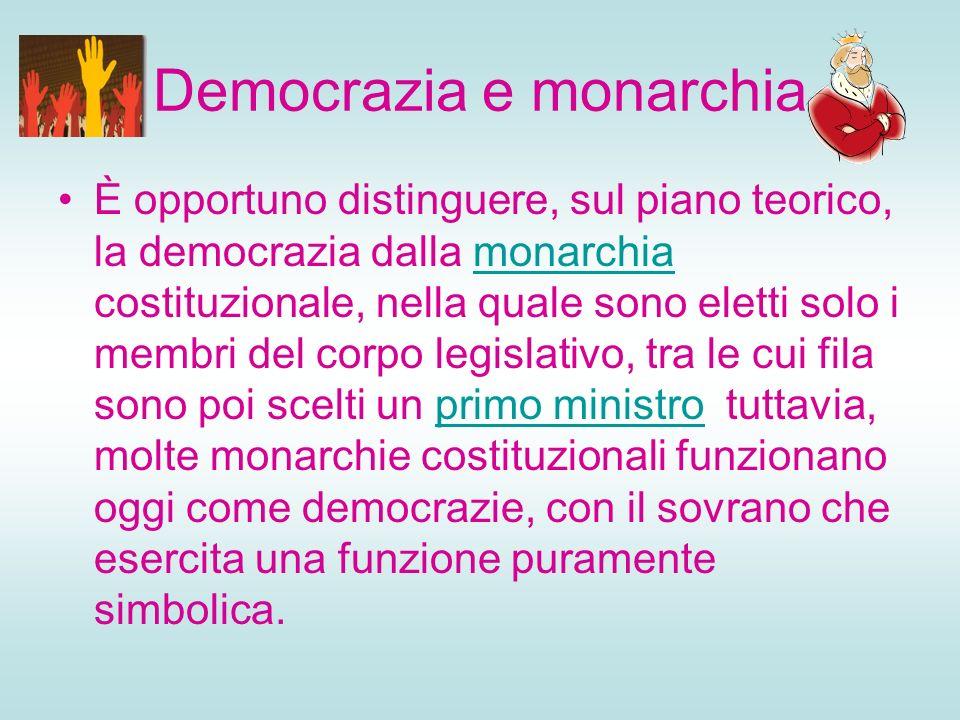 Democrazia e monarchia