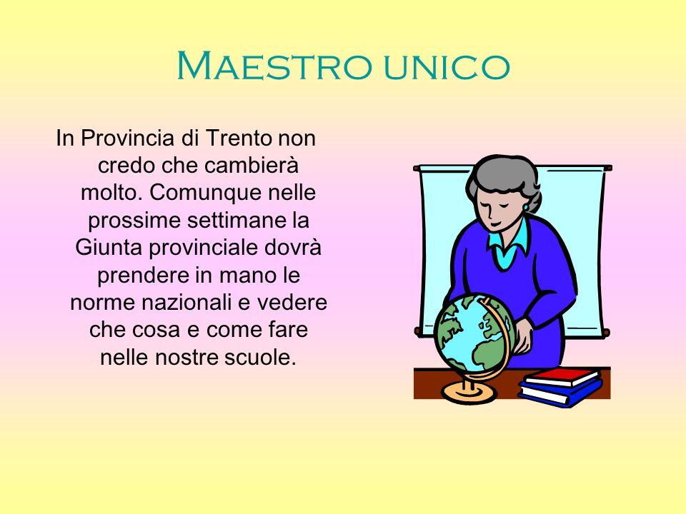 Maestro unico