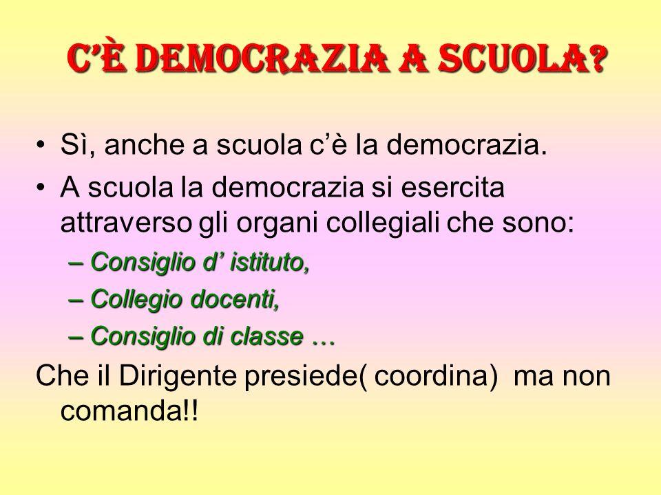 C'è democrazia a scuola