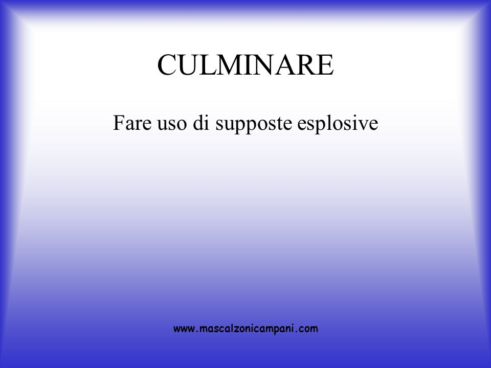 Fare uso di supposte esplosive