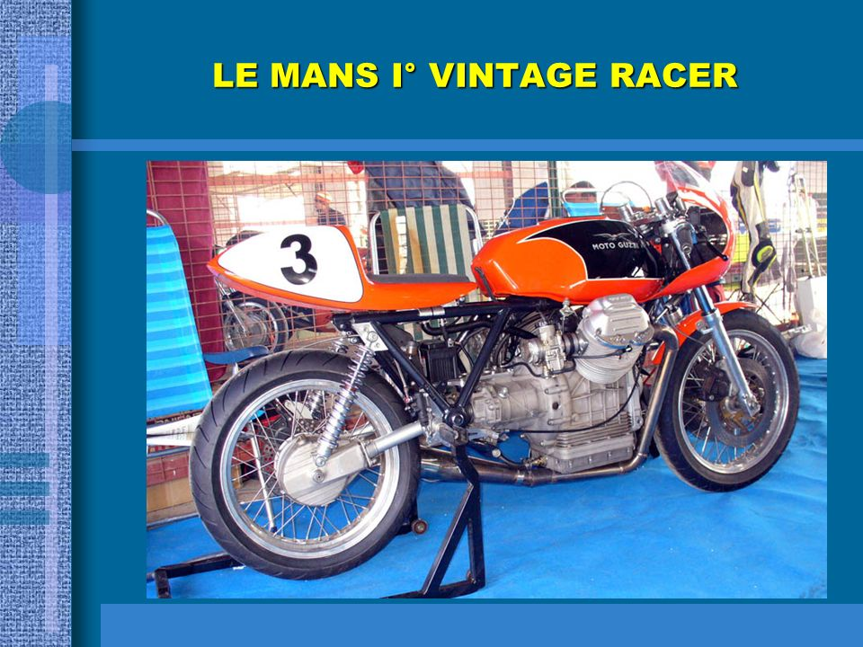 LE MANS I° VINTAGE RACER