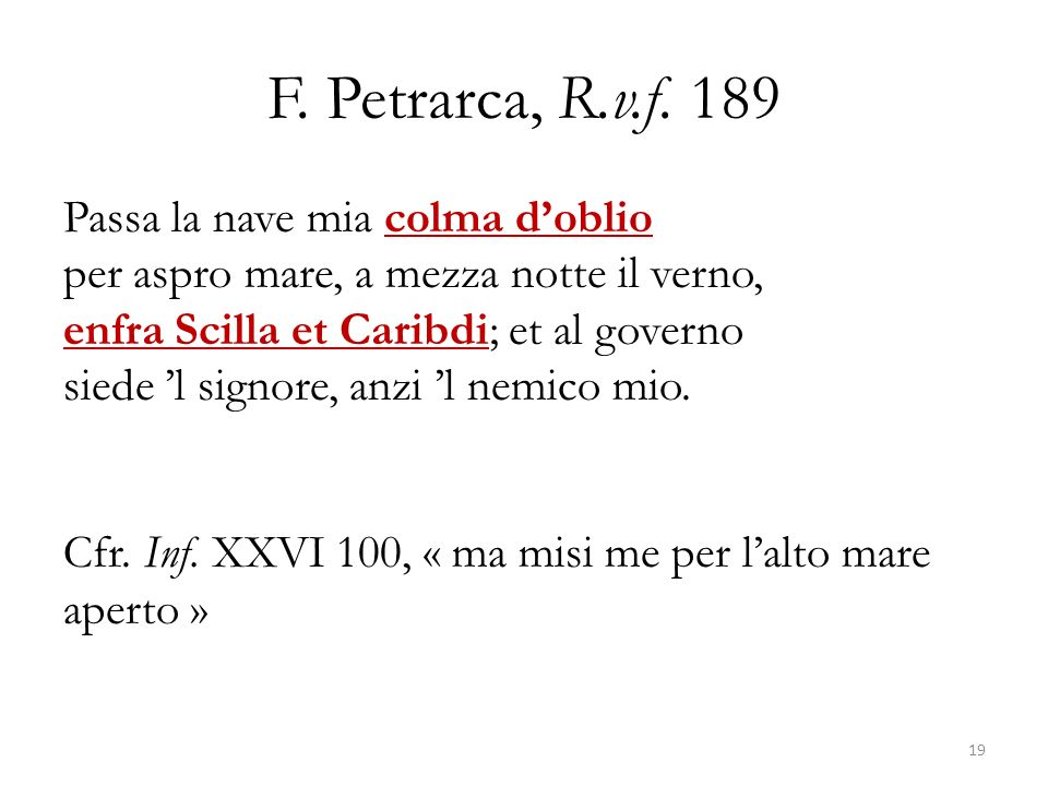 F. Petrarca, R.v.f. 189