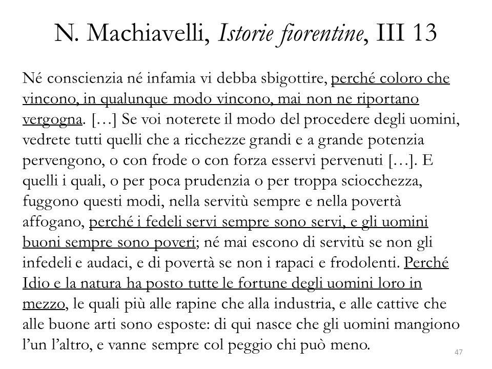 N. Machiavelli, Istorie fiorentine, III 13