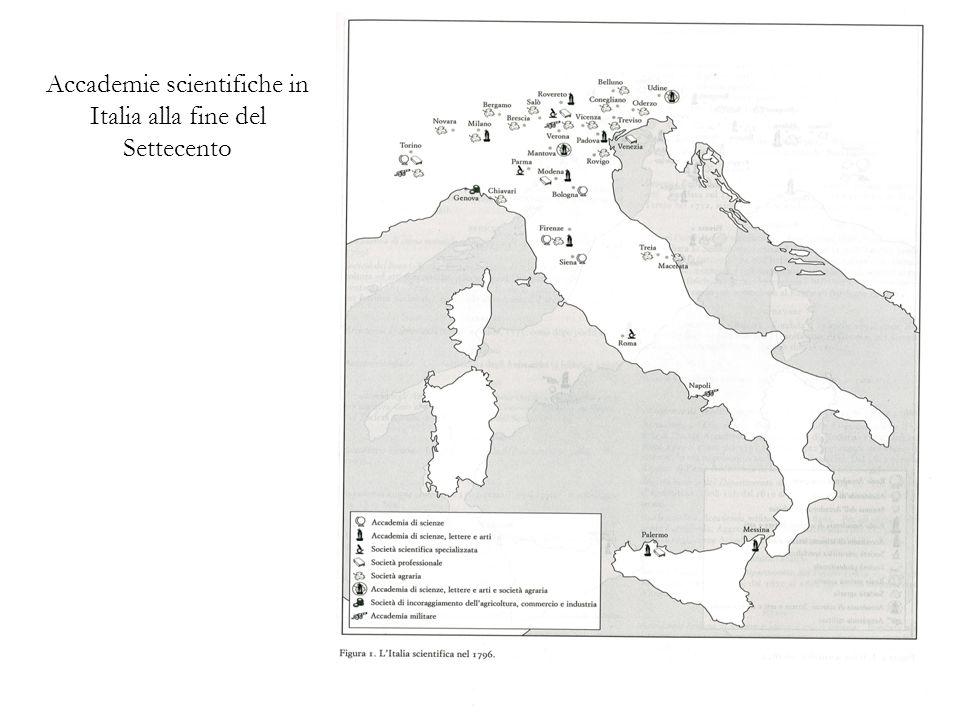 Accademie scientifiche in Italia alla fine del Settecento