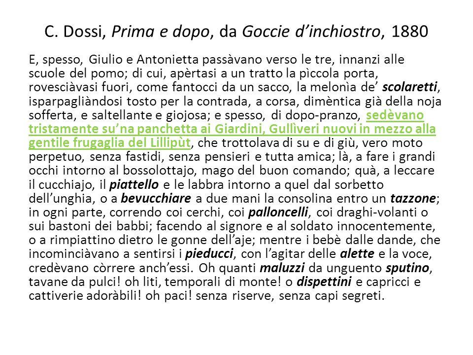 C. Dossi, Prima e dopo, da Goccie d'inchiostro, 1880