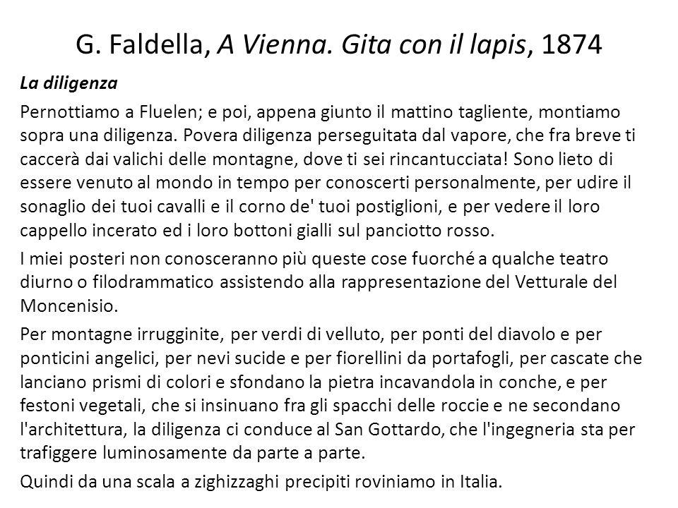 G. Faldella, A Vienna. Gita con il lapis, 1874