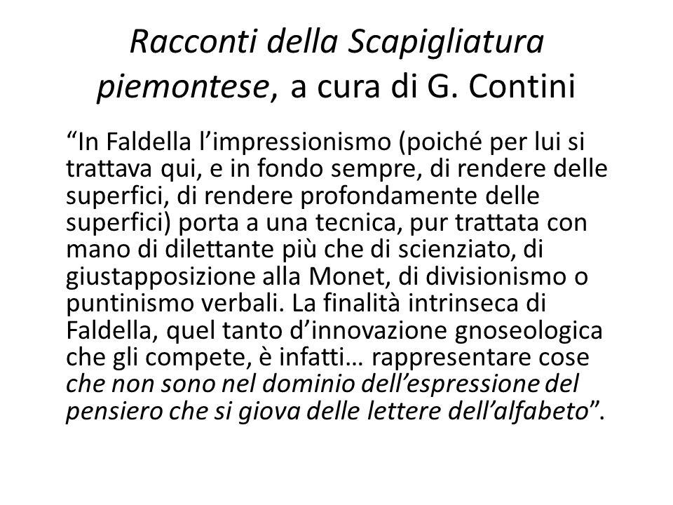 Racconti della Scapigliatura piemontese, a cura di G. Contini