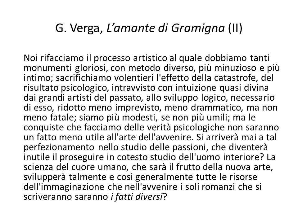 G. Verga, L'amante di Gramigna (II)
