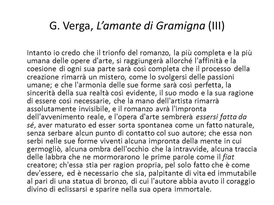 G. Verga, L'amante di Gramigna (III)