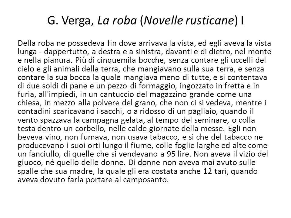G. Verga, La roba (Novelle rusticane) I
