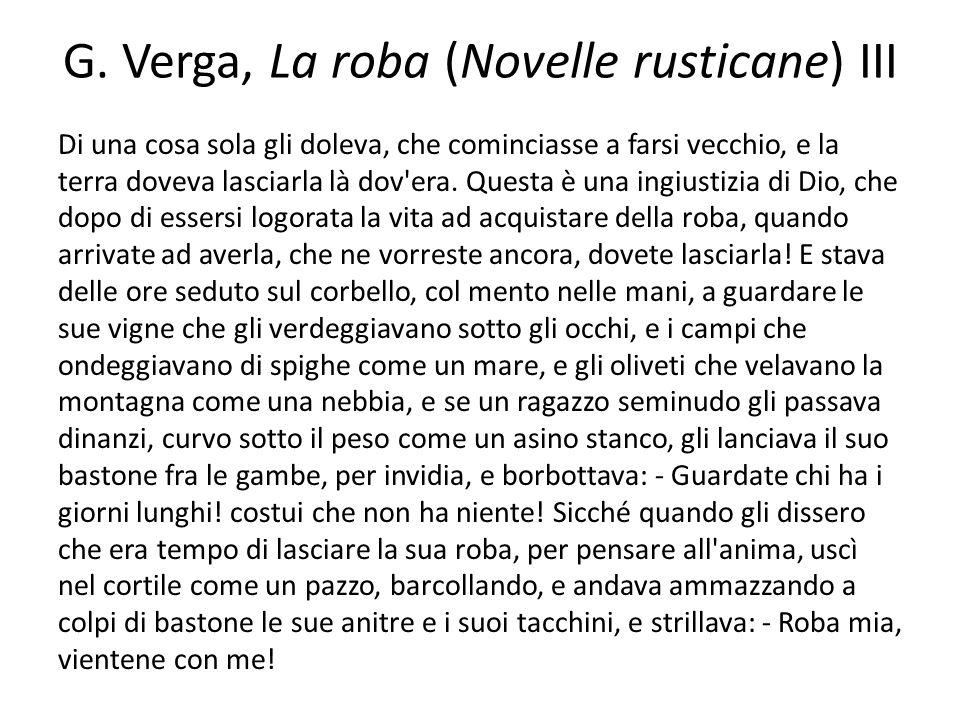 G. Verga, La roba (Novelle rusticane) III