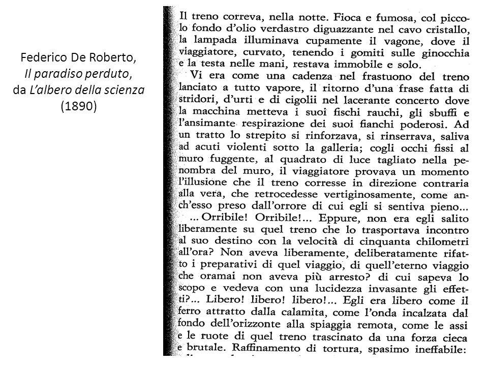 Federico De Roberto, Il paradiso perduto, da L'albero della scienza (1890)
