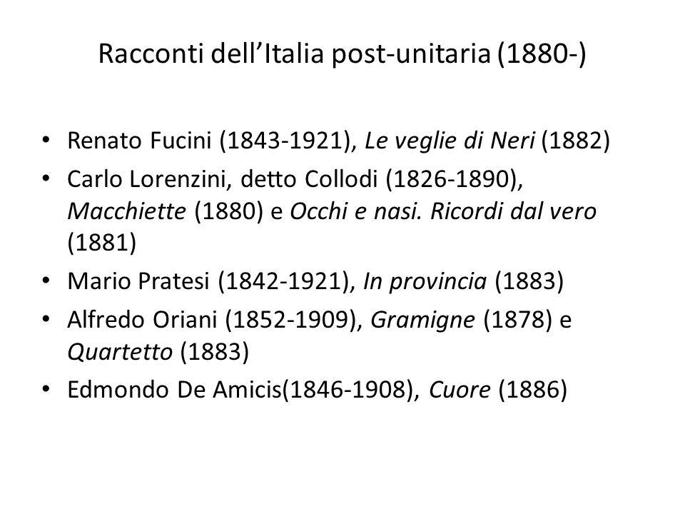 Racconti dell'Italia post-unitaria (1880-)