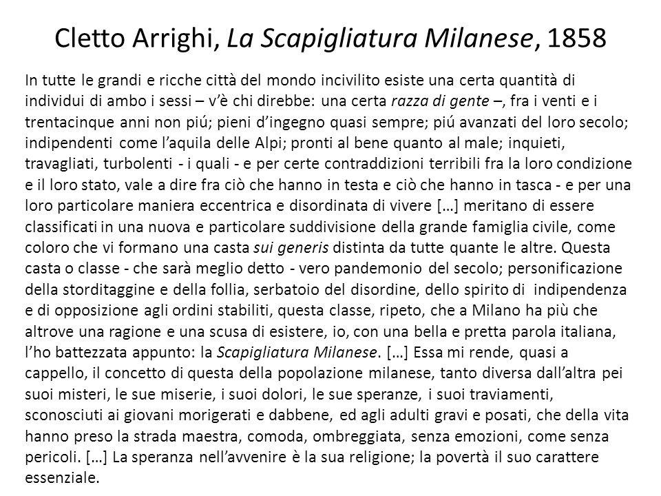 Cletto Arrighi, La Scapigliatura Milanese, 1858