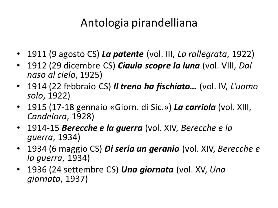 Antologia pirandelliana