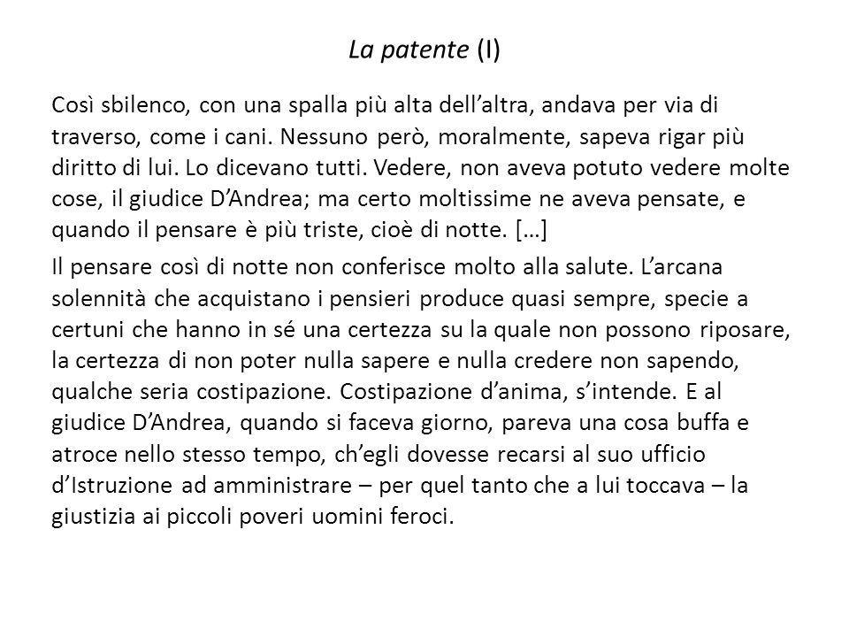 La patente (I)