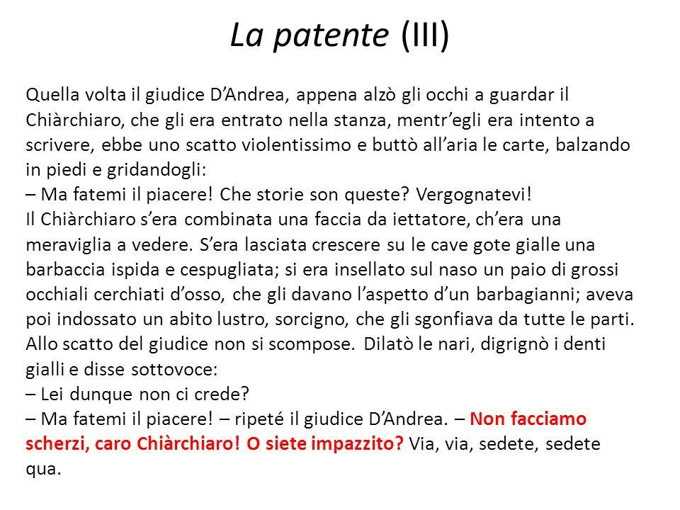 La patente (III)