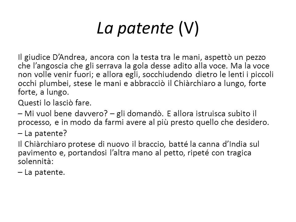 La patente (V)