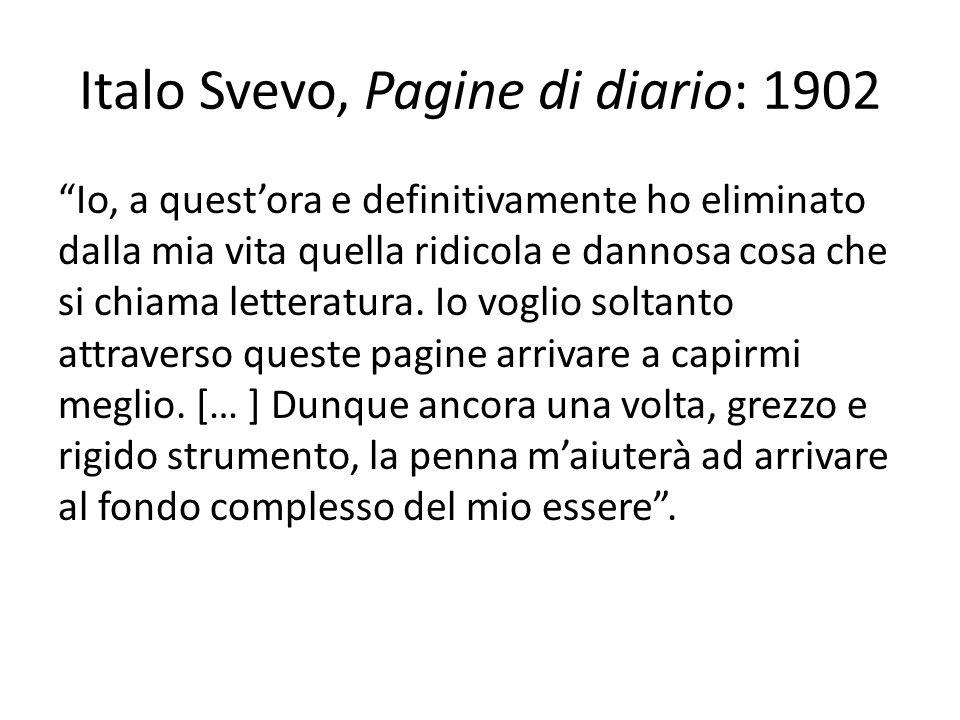 Italo Svevo, Pagine di diario: 1902
