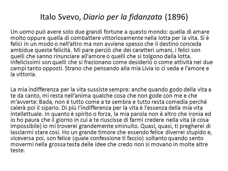 Italo Svevo, Diario per la fidanzata (1896)