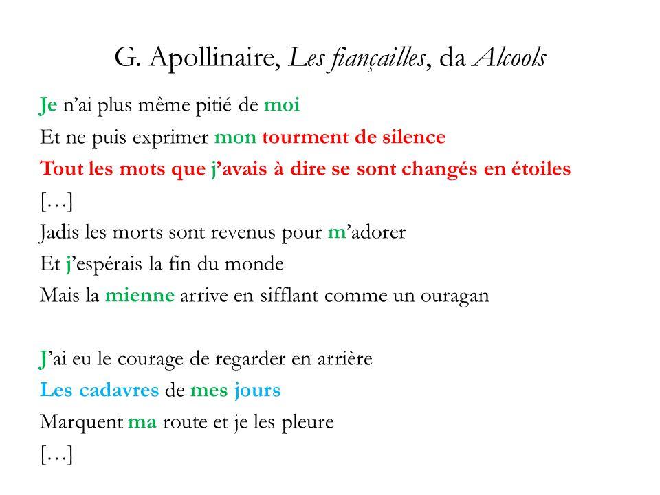 G. Apollinaire, Les fiançailles, da Alcools