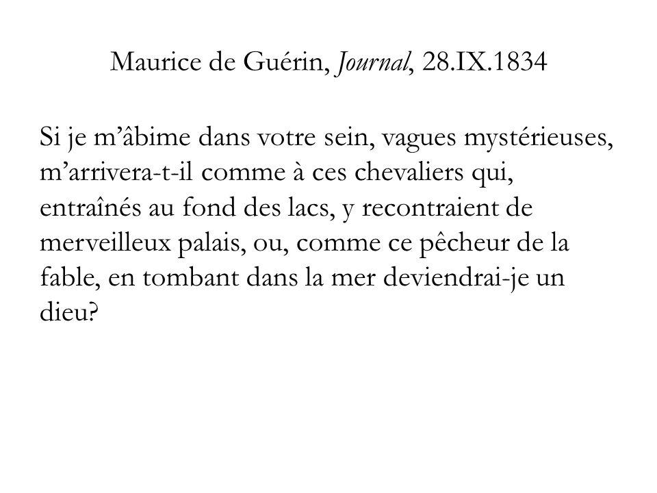Maurice de Guérin, Journal, 28.IX.1834