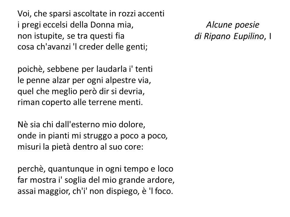 Alcune poesie di Ripano Eupilino, I