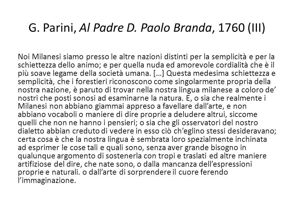 G. Parini, Al Padre D. Paolo Branda, 1760 (III)