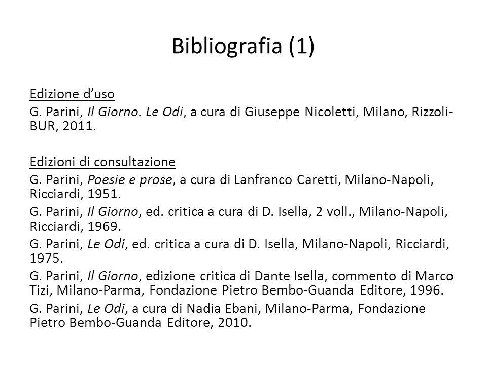 Bibliografia (1) Edizione d'uso