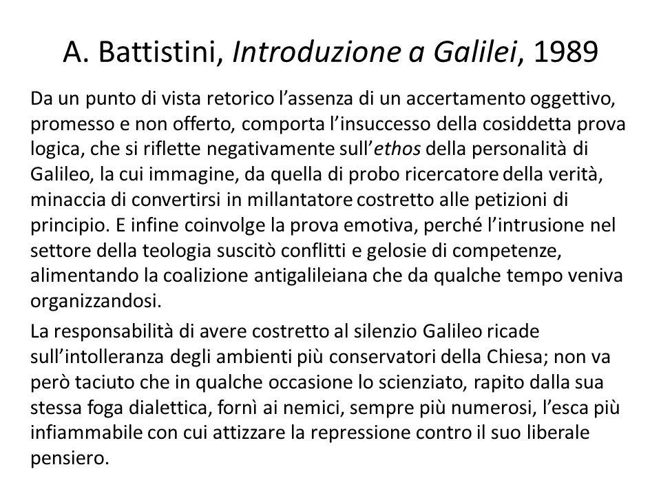 A. Battistini, Introduzione a Galilei, 1989
