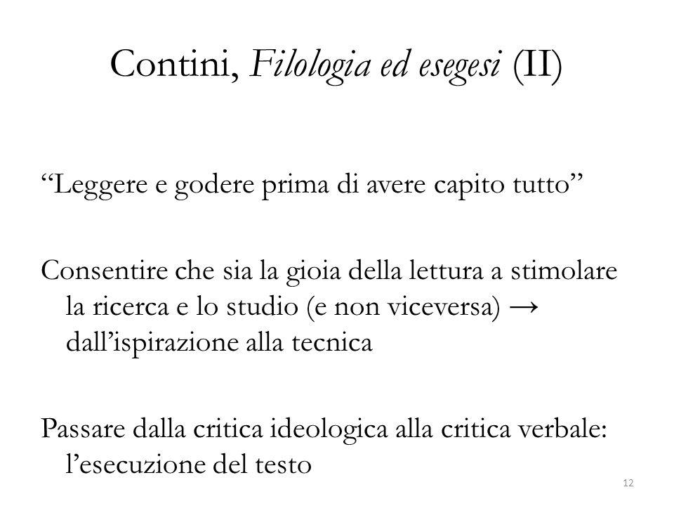 Contini, Filologia ed esegesi (II)