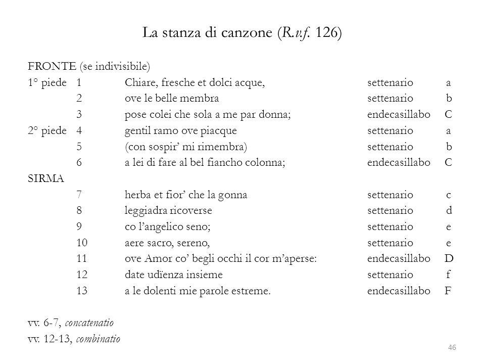 La stanza di canzone (R.v.f. 126)