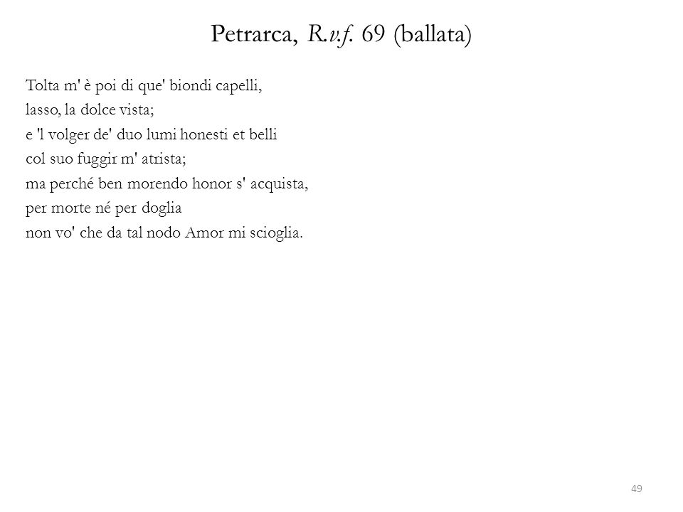 Petrarca, R.v.f. 69 (ballata)