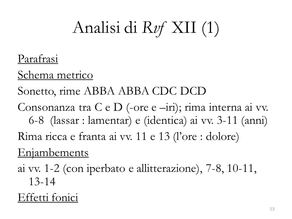 Analisi di Rvf XII (1)