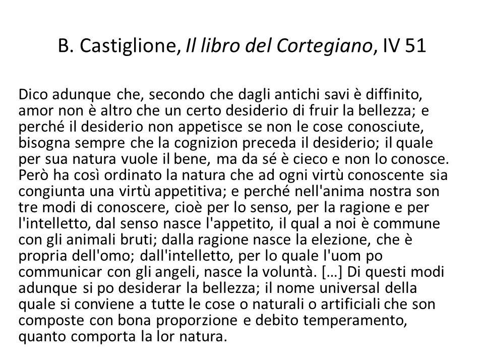 B. Castiglione, Il libro del Cortegiano, IV 51