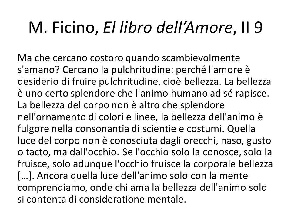 M. Ficino, El libro dell'Amore, II 9