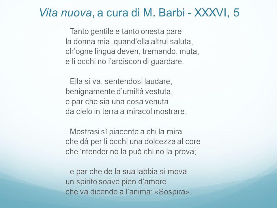 Vita nuova, a cura di M. Barbi - XXXVI, 5