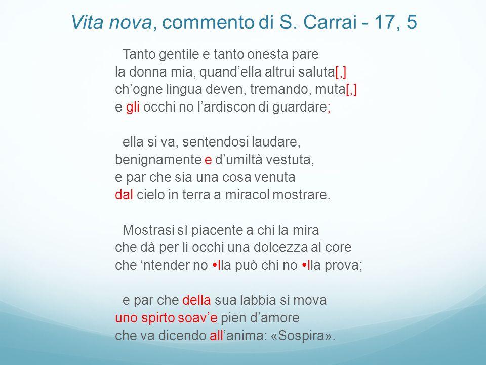 Vita nova, commento di S. Carrai - 17, 5