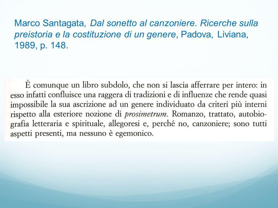Marco Santagata, Dal sonetto al canzoniere
