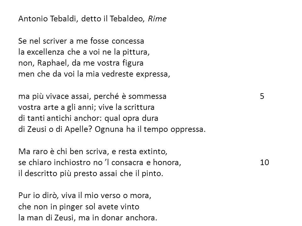 Antonio Tebaldi, detto il Tebaldeo, Rime
