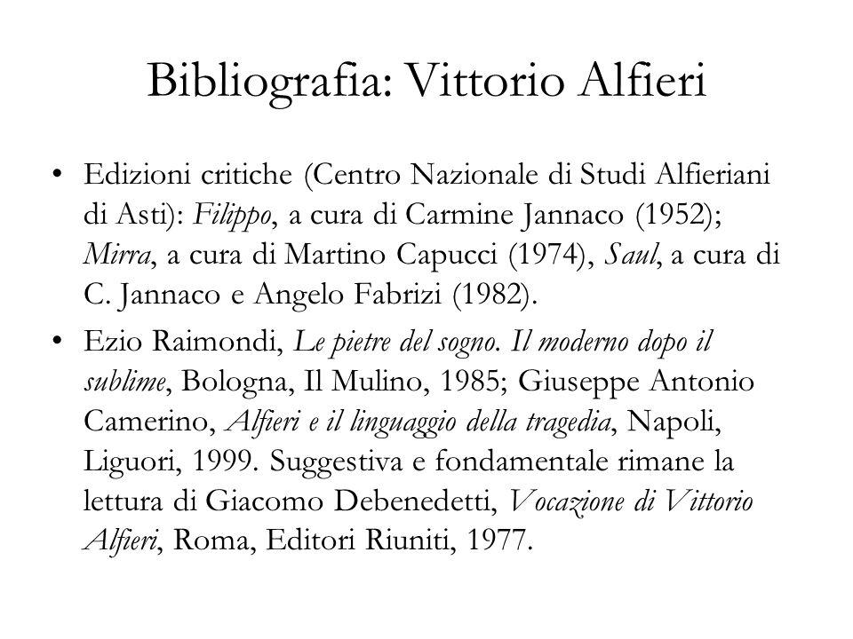 Bibliografia: Vittorio Alfieri