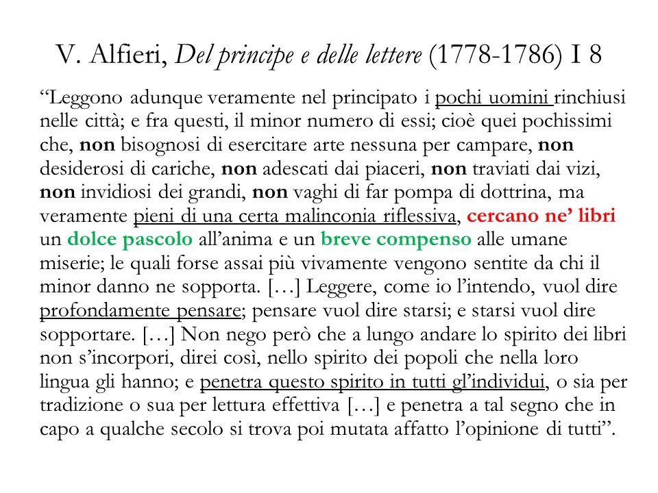V. Alfieri, Del principe e delle lettere (1778-1786) I 8
